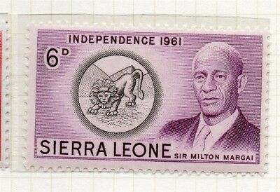 Sierra Leone 1961 Early Issue Fine Mint Hinged 6d. 215193