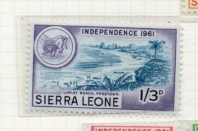 Sierra Leone 1961 Early Issue Fine Mint Hinged 1S.3d. 215195