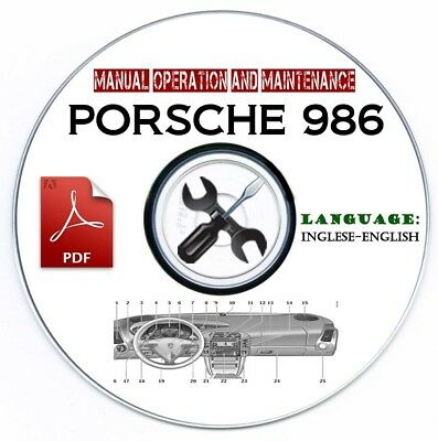 Use and Maintenance Manual Porsche 986 Boxster Manuale Uso Manutenzione CD