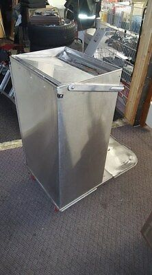 Royce Rolls Stainless Janitorial Cart Parts. Folding Bag Arm.