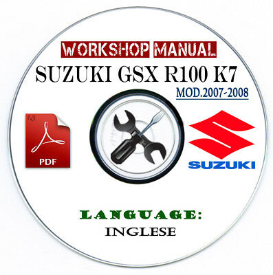 Manuale Officina Suzuki GSX R 1000 K7 Workshop Manual Service Repair Riparazione
