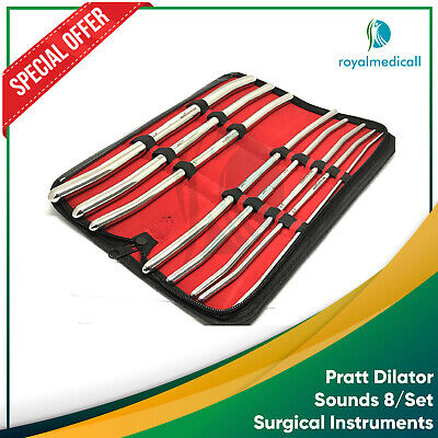 Pratt Dilator Sounds 8/Set Surgical Medical Instruments New Premium Grade