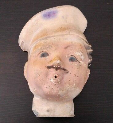 "Vintage String Holder Chef's Head Face 8"" 1940's to 1950's Kitchen"