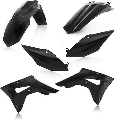 Acerbis Black Plastic Kit For Honda CRF 450 RX 2017 2645460001 Complete Kit