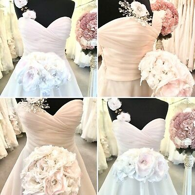 Wedding Bridal Brooch Bouquet Vintage Indian Ivory Baby Pink Unique Handmade