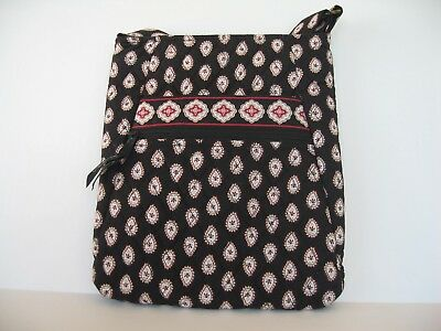 VERA BRADLEY Hipster Crossbody Shoulder Bag Purse-CLASSIC BLACK Very Gently Used