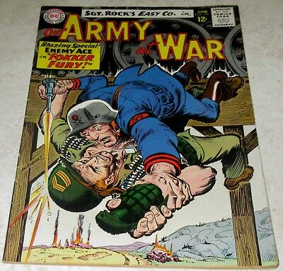 Our Army at War 155, (FN/VF 7.0) 1965 3rd Enemy Ace! 40% off Guide!