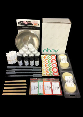 Lip Balm Making Kit -Everything you need inc Flavour, Mica, Containers & Labels