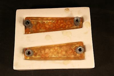 Vintage Resin Lucite Cabinet Drawer Pulls  with Ceramic Mold MAKE THEM YOURSELF