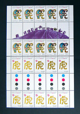 2010 Christmas Island Stamps - Lunar New Year- Year of Tiger-Gutter Set 2x10 MNH