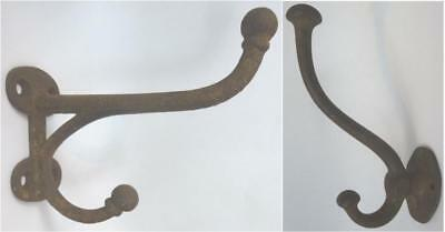 Antique Hardware Vintage Cast Iron Double Coat & Hat Hooks Large
