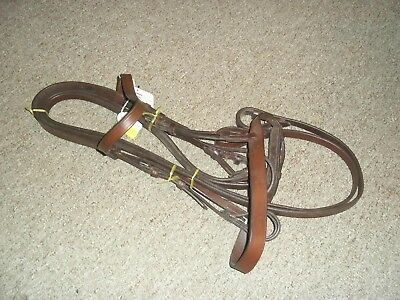 Snaffle Bridle & REINS ,CANTA,  BROWN LEATHER , SIZE PONY