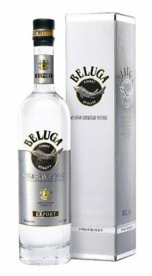 Beluga Noble Russian Vodka in the box  *empty bottle 1litre* with the cork.