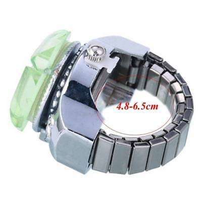 Creative Women Lady Steel Round Dial Elastic Finger Ring Watch Girl Gifts new