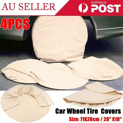 4X Wheel Tire Covers For Auto Truck Car Wheel Trailer Tyre Protection 28''