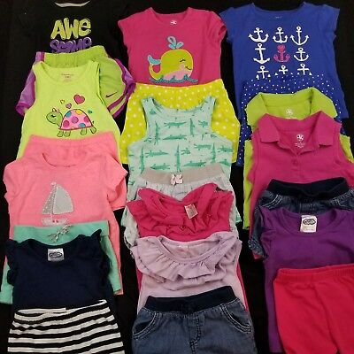 Baby Girl Toddler Size 3T Spring Summer Mix & Match Outfits Clothes Lot