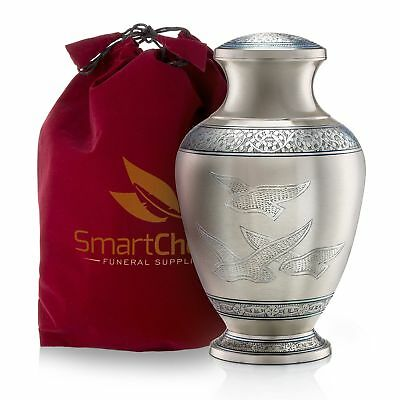 SmartChoice Wings Freedom Brass Cremation Urn Human Ashes - Affordable Funera...