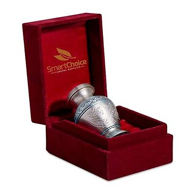 SmartChoice Urn Keepsake for ashes Brass Cremation Urn Keepsake for Human Ash...