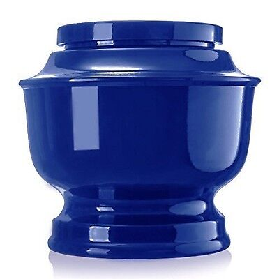 Classic Aluminum Funeral Cremation Urn for human Ashes, Adult (Blue)