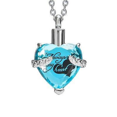 "Cremation Urn Necklace for Ashes ""With Beautiful Gift Box"" Urn Pendant"