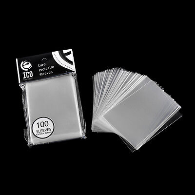 100pcs/pack Transparent Vertical ID Credit Card Holder Protector Sleeve 65x90mm