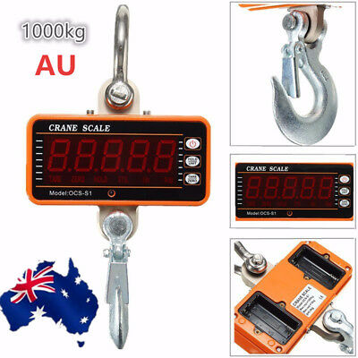 AU 1000KG High Precision Aluminum Digital Crane Scale heavy Duty Hanging