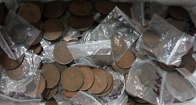 #43. ABOUT 2.5  KILOGRAMS AUSTRALIAN HALFPENNY &  PENNY COINS, 1911 to 1964