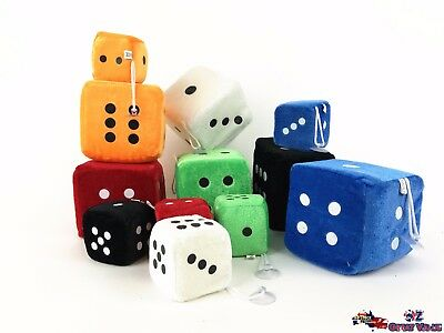 Bulk Soft Plush Dice Large Small Child Kids Toy Activities Games Random Color