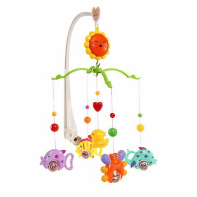 UK Kids Baby Crib Mobile Bed Bell Toys Holder Arm Bracket Wind up Music Box Gift