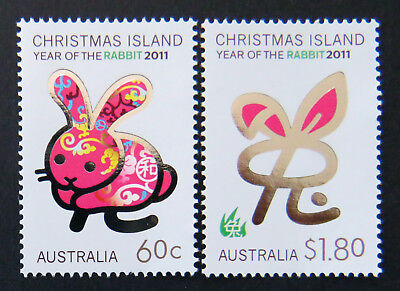 2011 Christmas Island Stamps - Year of the Rabbit - Set of 2 MNH
