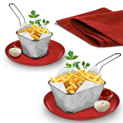 Mini Chips Serving Baskets French Fries Crisps Food Dish Party Restaurant Style