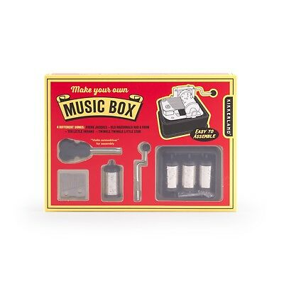 Kikkerland Make Your Own Music Box Carillon Crafting Kit Creative Gift Set