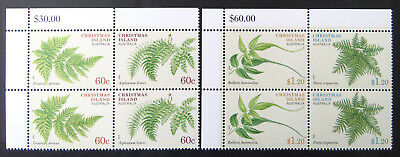 2012 Christmas Island Stamps - Christmas Island Plants - Cnr Set of 4x2 MNH