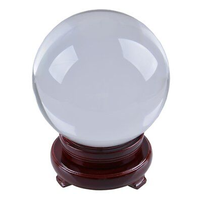 LONGWIN 150mm (5.9 inch) Divination Crystal Ball Glass Globe Sphere Free Wooden