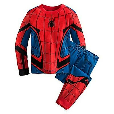 NWT Disney Store Spider-Man Costume PJ PALS for Boys Size 5,6,7,8,10
