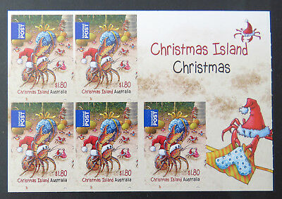 2014 Christmas Island Stamps - Christmas Sheetlet 5 x $1.80 Int'l Post P&S MNH