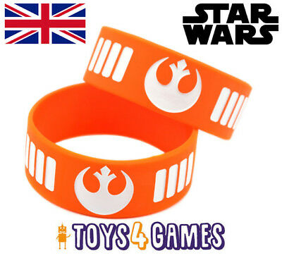 UK NEW Star Wars Rebel Alliance BB-8 Silicone Wrist Band Space Gift for Fans