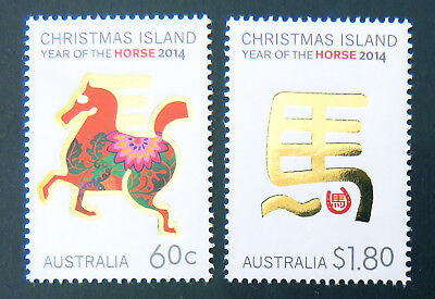 2014 Christmas Island Stamps - Year of the Horse - Set of 2 MNH