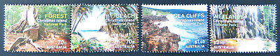 2014 Christmas Island Stamps - National Parks - Forest Beach - Set of 4 MNH