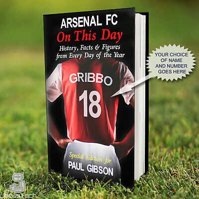 ARSENAL Book, PERSONALISED. History Facts. Arsenal Fan Gift. Football Gift Idea