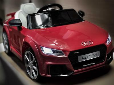 New 12V Licensed Sport AUDI TT RS Battery Electric Kid Ride On Car Remote Red
