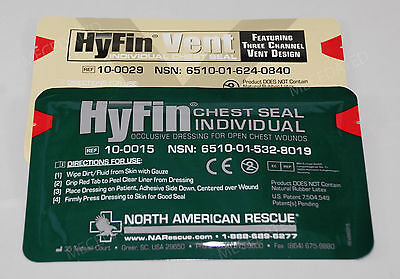 New Usmc Hyfin Chest Seal Kit Combo Pack North American Rescue Nar Unexpired