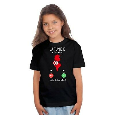 T-shirt ENFANT FILLE LA TUNISIE M'APPELLE...