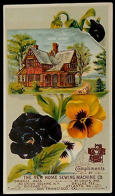 Trade Card NEW HOME Sewing Machines ELMER V WALKER Agent OXFORD MAINE