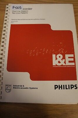 Philips PM8271 & PM8272 XYt Recorder Ops Manual  Loc:P-005