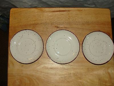 """3 SAUCERS LIFESTYLE oven-to-tableware J&G MEAKIN ENGLAND 6"""" {GREAT CONDITION}"""