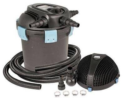 Aquascape UltraKlean 2500 Filtration Kit-pond pressure filter w/UV-pump-tubing