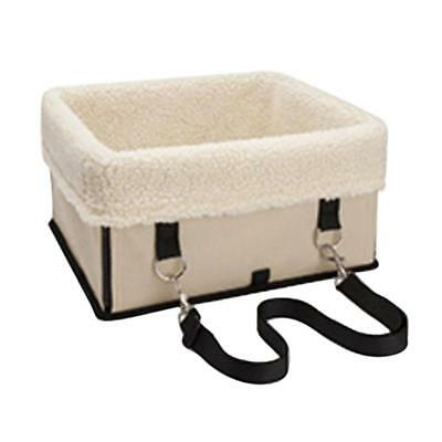 Pet Carrier Booster Car Kennel for Small Medium Large Dog 40x35cm Beige L