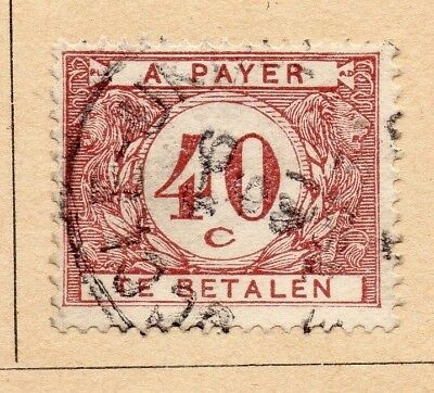 Belgium 1922-23 Early Issue Fine Used 40c. 214038