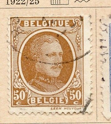 Belgium 1922-25 Early Issue Fine Used 50c. 214052